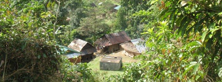 Unelectrified village rural Vietnam