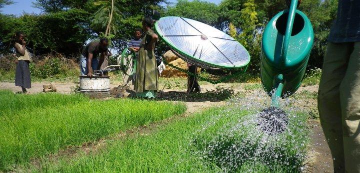 Sunflower solar pump